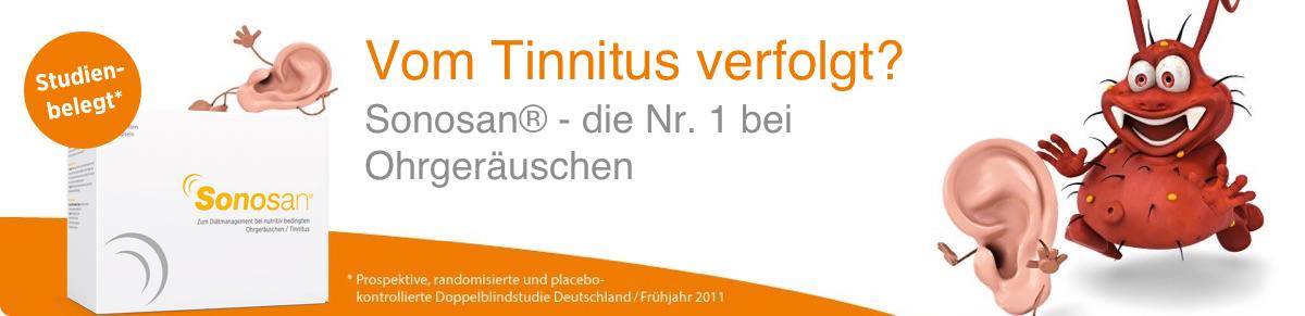 Sonosan bei Tinnitus